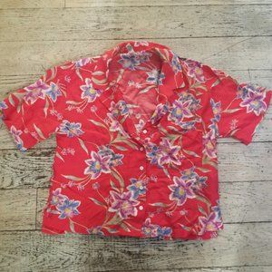 Forever 21 Tropical Hawaiian Style Button Down Top